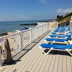 The sun deck, before you walk onto the private beach.
