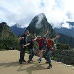 Arriving at Machu Picchu