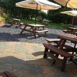 Quiet beer garden