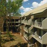 Balkony przy pokojach hotelowych,