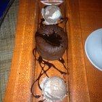 Moelleux au chocolat avec glace coco chocolat