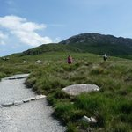 Hiking up Diamond Hill, Connemara National Park