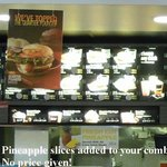 McDonald's Menu-Pineapple slices added to combos!