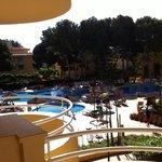 Sicht auf den Pool