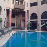 outside pool, inner yard