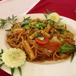 fried yellow noodles - yum