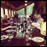 A crazy bunch enjoying our tortellini meal.  Yummy!!