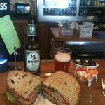 Decadent Sandwich and Shapira Beer