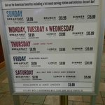 Willows Buffet Prices