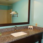 New Granite Bath Vanities with Full Size Mirrors