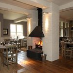 Main restaurant with log fire