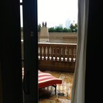 Looking out from the Caroline Astor Suite overlooking pool