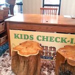Kid's check-in located in lobbery