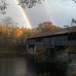 Double rainbow over the bridge