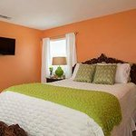 Oceanview Cottage--one of two bedrooms, both Queen sized beds