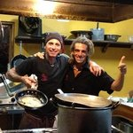Emilio on left and sous-chef