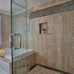Royal Palm Bathroom--Jacuzzi tub and body jets in shower