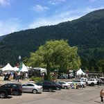 Festival view from Patio of Canwest Art-Gallery on the lake