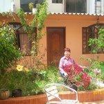 jardines frente a las habitaciones