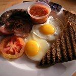Fantastic breakfast! Including boerewors!!