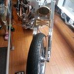 Motorcycle in 911 shop