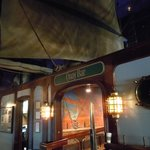 A view of the Quay Bar's elaborate nautical theming.