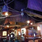 The Quay Bar, the best nautical themed bar on the west coast. Yes, those are real masts and sail