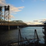 The Interstate 5 bridge that links Vancouver and Portland. The Quay Bar is in the right corner.