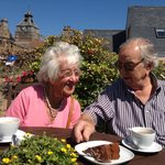 Coffee and Cake in the Garden (Mum and Dad)
