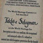 The UNESCO plaque