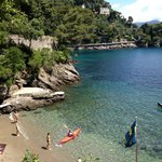 Free beach on the road to Portofino.