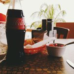 Coke and chips and salsa