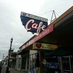 Outside of the Burlington Cafe