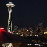 View of Space Needle from Rooftop Deck