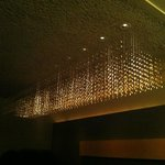 the upstairs private room, with a beautiful corn chandelier