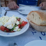 Greek salad with Naxos cheese