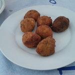 Fish und Zucciniballs