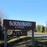 The turn off sign for Bordemundo.
