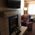 Gas Fireplace & Large Flat Screen TV