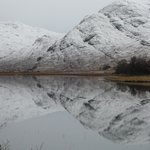 Glen Gour after a fall of snow.