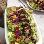 mix grilled meat skewer