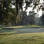 Early Morning - First hole. Par Four 321 yds - white tees.