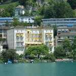 Hotel viewed from Lake Geneva boat trip