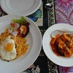 Nasi Goring & Prawn Sambal