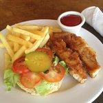 Jerk Snapper Fish Sandwich
