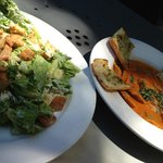 Salad and ravioli