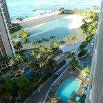 View from Balcony (Ilikai Pool, Hilton pool & Lagoon)