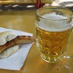 Bratwurst e birra