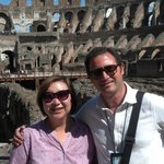 Alessandro and me at the Colosseum