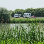 Two of four pitches for caravans or motorhomes